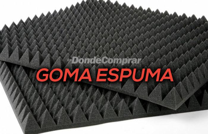 DONDE COMPRAR GOMA ESPUMA